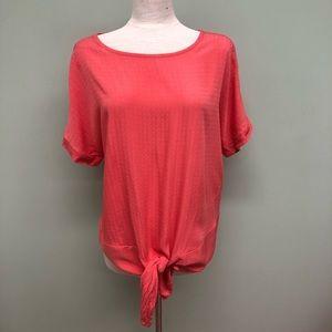 Buffalo David Bitton   Women's Pink Tie T-Shirt